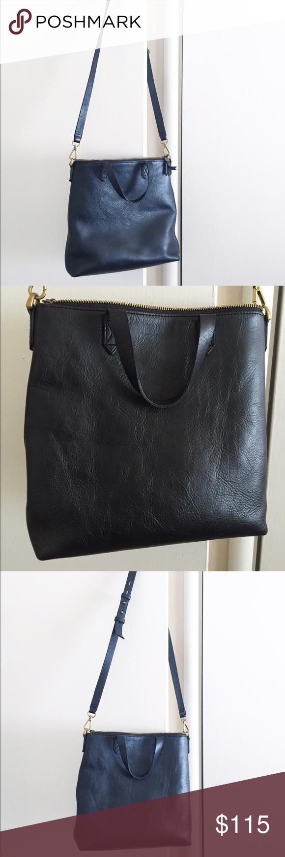 54fd73cda842 Madewell Mini Transport Tote A genuine-leather zip-top bag is made super  versatile