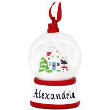Personalized Mini Snow Globe With House Ornament