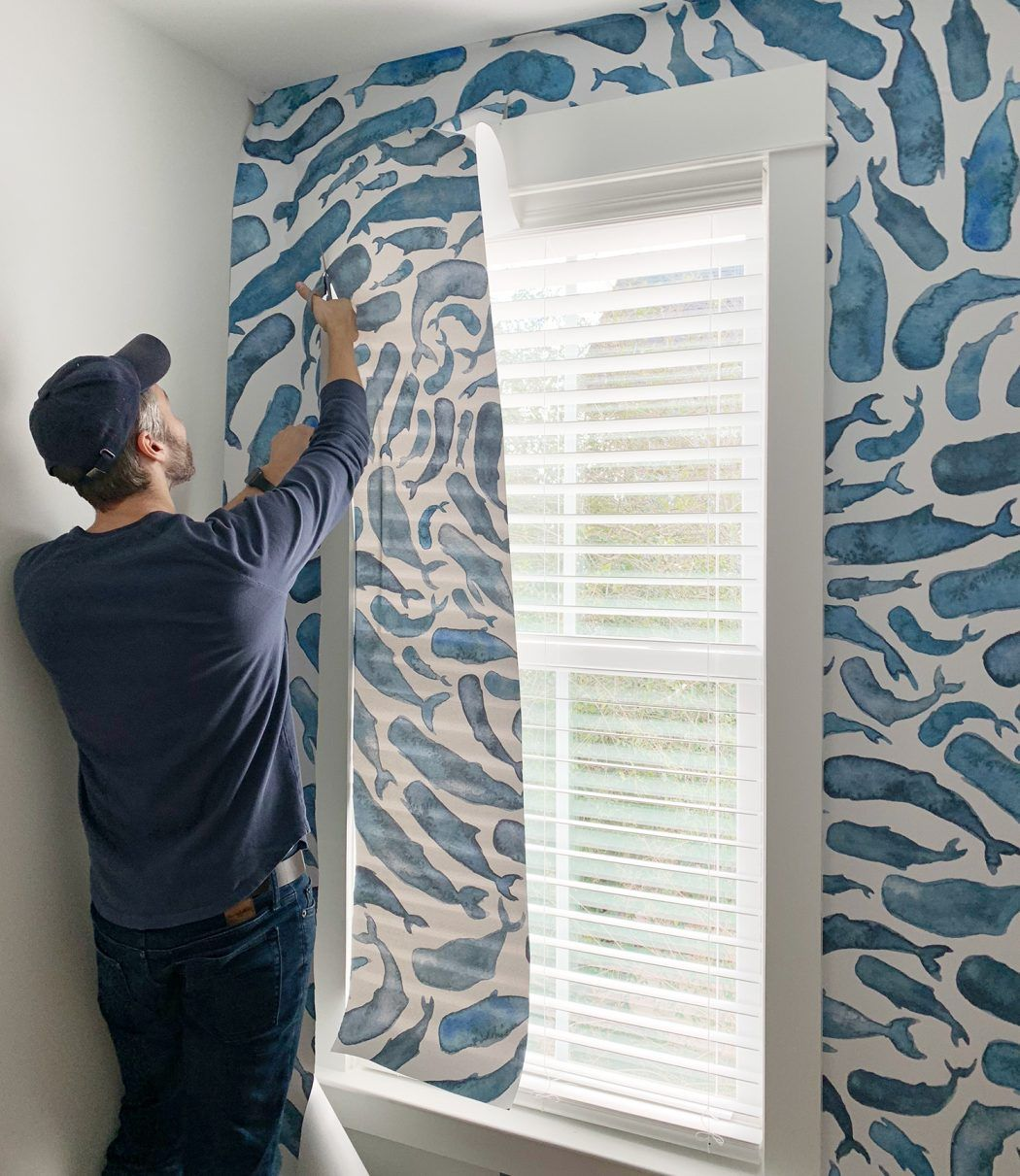 How To Install A Removable Wallpaper Mural Young House Love Removable Wallpaper Mural Wallpaper Diy Wallpaper