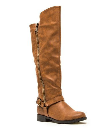 Look what I found on #zulily! Cognac Turner Boot by Qupid #zulilyfinds