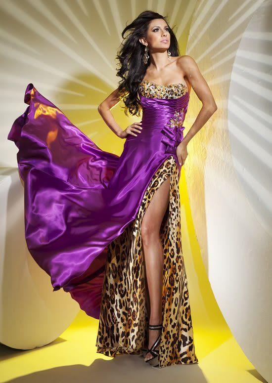 New Sexy Purple/Leopard Wedding Dress | Future. | Pinterest | Sexy ...