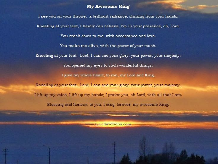 My Awesome King With Images Christian Songs Songs Lyrics