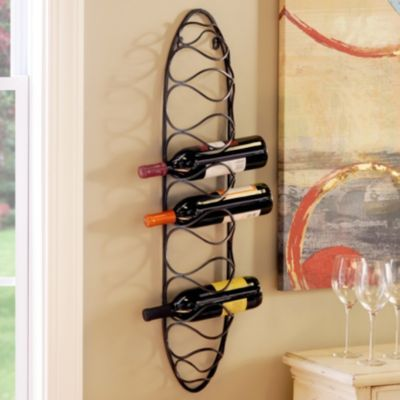 Black Metal Wine Rack Decor Wine Rack Small Cozy Apartment