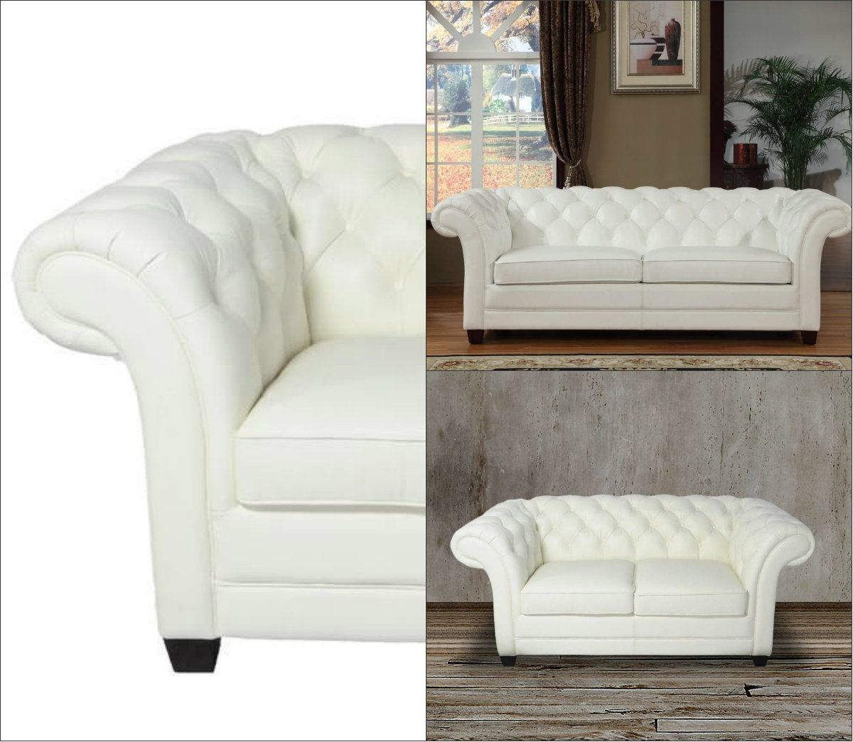 This Luxurious Chesterfield Sofa And Loveseat Set Boasts Of Tufted