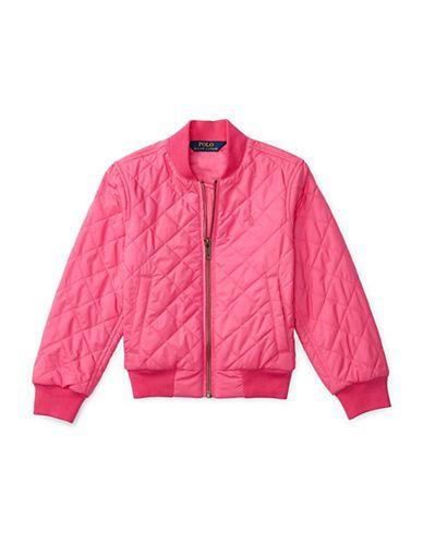 Ralph Lauren Childrenswear Girls 2-6x Diamond-Quilted Baseball Jacket