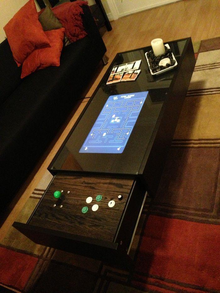 My 400 ikea ramvik arcade table ikea coffee table for Ikea gaming table