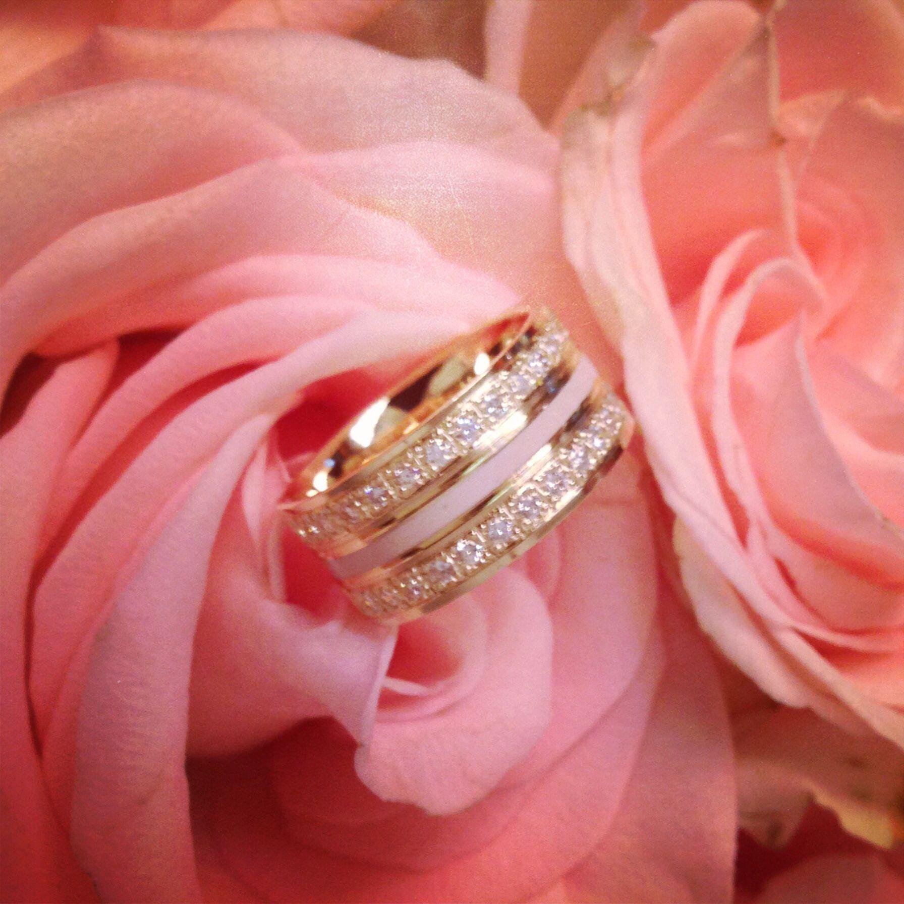 Wedding ring ceramic gold | ANILLOS DE COMPROMISO & ARGOLLAS DE ...