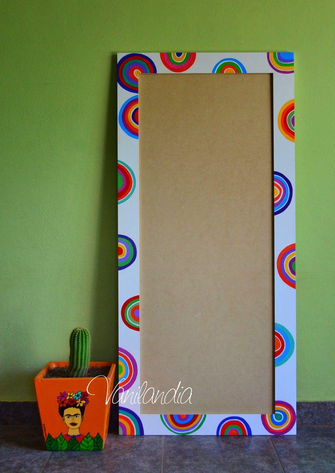 Vanilandia - Marco pintado para espejo | Objetos pintados y ...