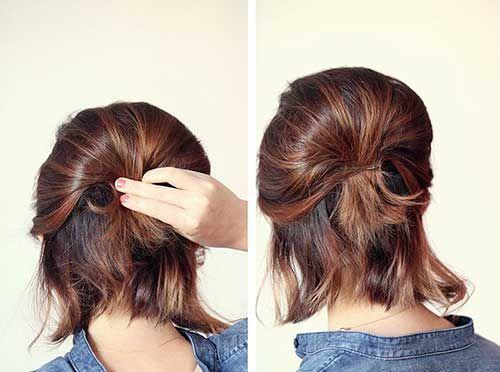 Cute Ponytail Hairstyles For Short Hair Jpg 500 372 Pixels Short Hair Ponytail Hair Styles Short Ponytail