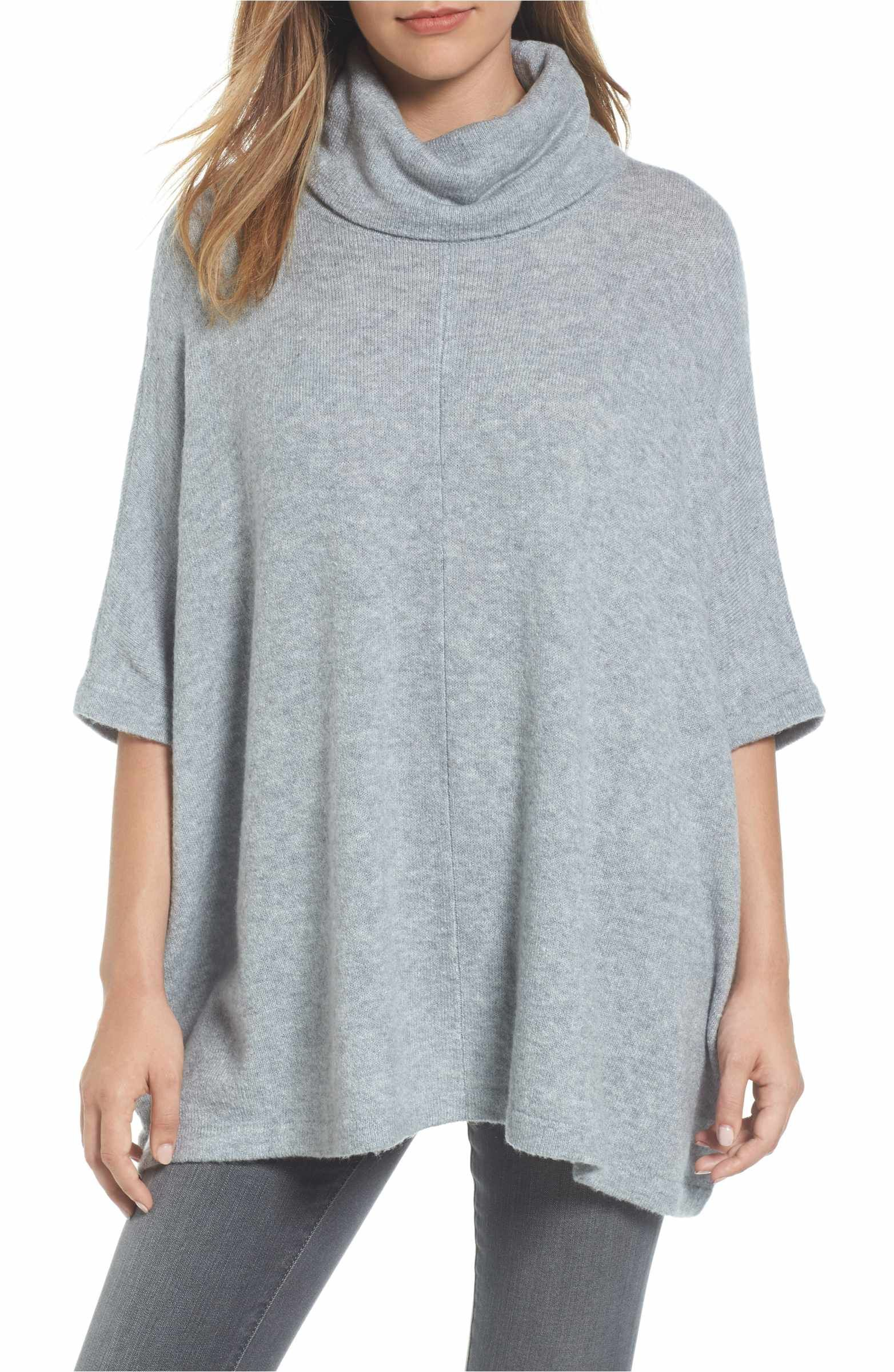 Cowl Neck Sweater Poncho | Cowl neck, Ponchos and Knitted poncho