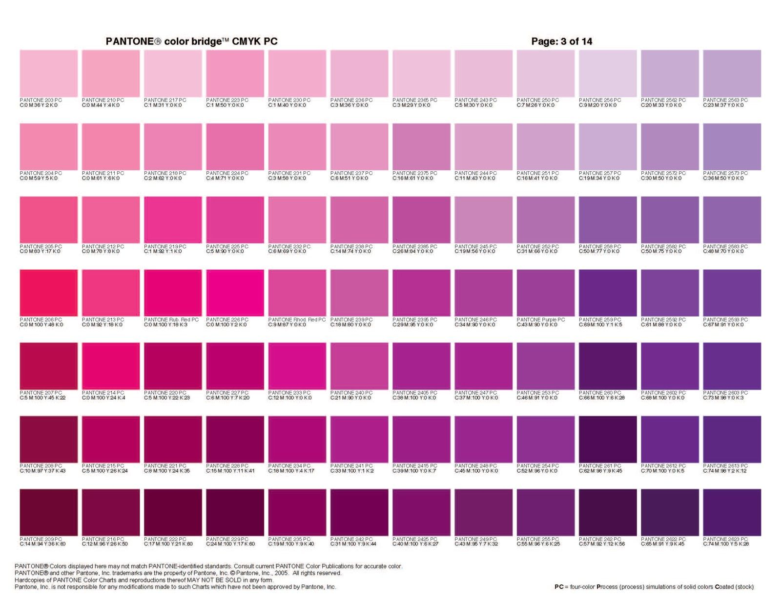 Images For Shades Of Purple Paint Chart Whit