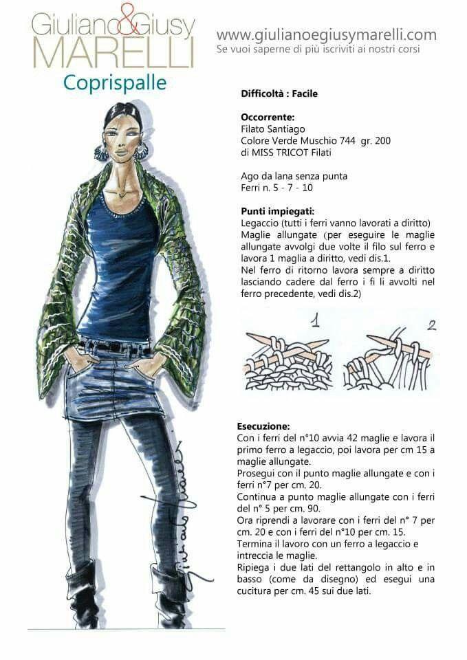 Coprispalle | knitting.. | Pinterest | Ropa de invierno, Puntadas y ...