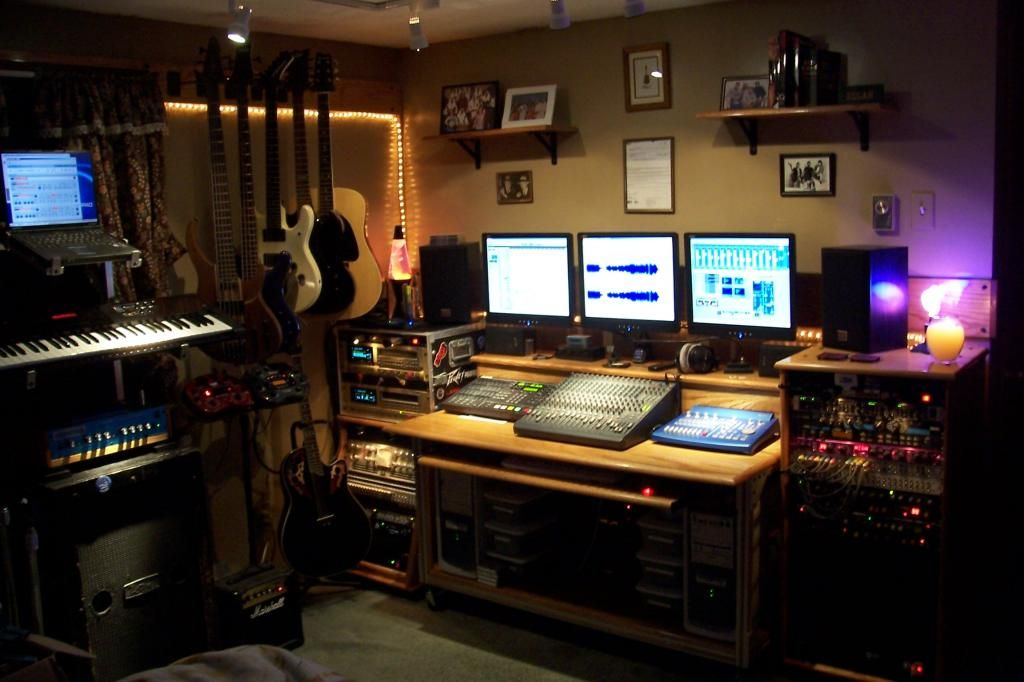 Modern Home Recording Studio Music Room Design With
