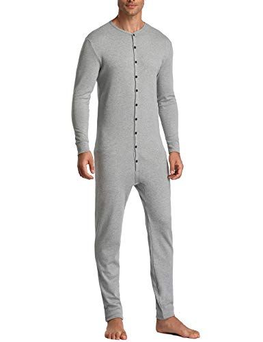 fdbb119a7e5b Chic Lusofie Mens Thermal Underwear Union Suit Base Layer Henley Adult  Onesie Mens Fashion Clothing.   32.68 - 38.68  newforbuy from top store