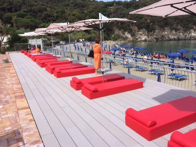 Realizzato con #Twinson Terrace Maxi colore 509: #terrazza del #resort Negombo a #Ischia.