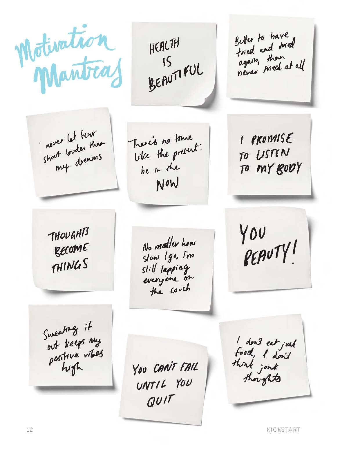 Motivation mantras from Tiffiny Hall's new book You Beauty!