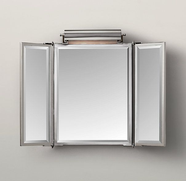 Tri Fold Wall Mirror tri fold bathroom mirror brilliant vintage tri fold mirror