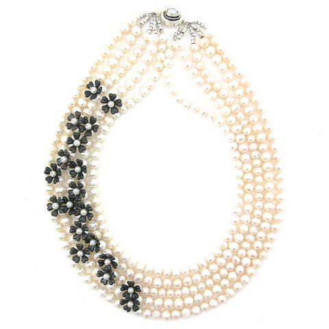 Prosper Amongst Pearls necklace by Elva Fields #elvafields