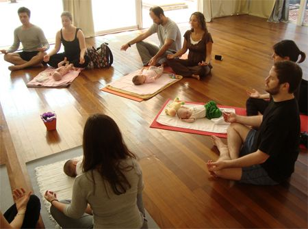 baby yoga class is a great opportunity to meet other young
