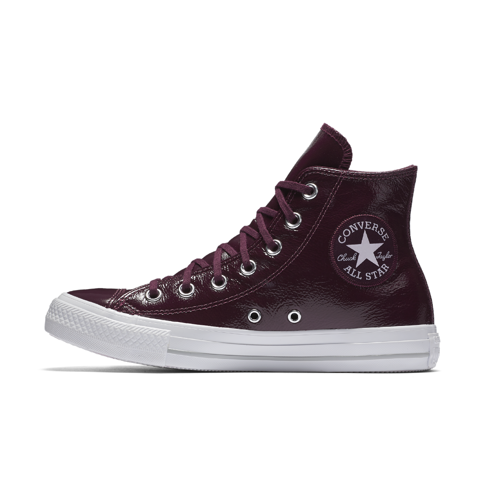 336f4a0c77be Chuck Taylor All Star Crinkled Patent Leather High Top Women s Shoe Size  10.5 (Red)