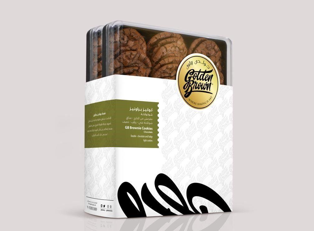 عرض العلبتين كلاسك حجم كبير جولدن براون Brownie Cookies Brownie Cookies