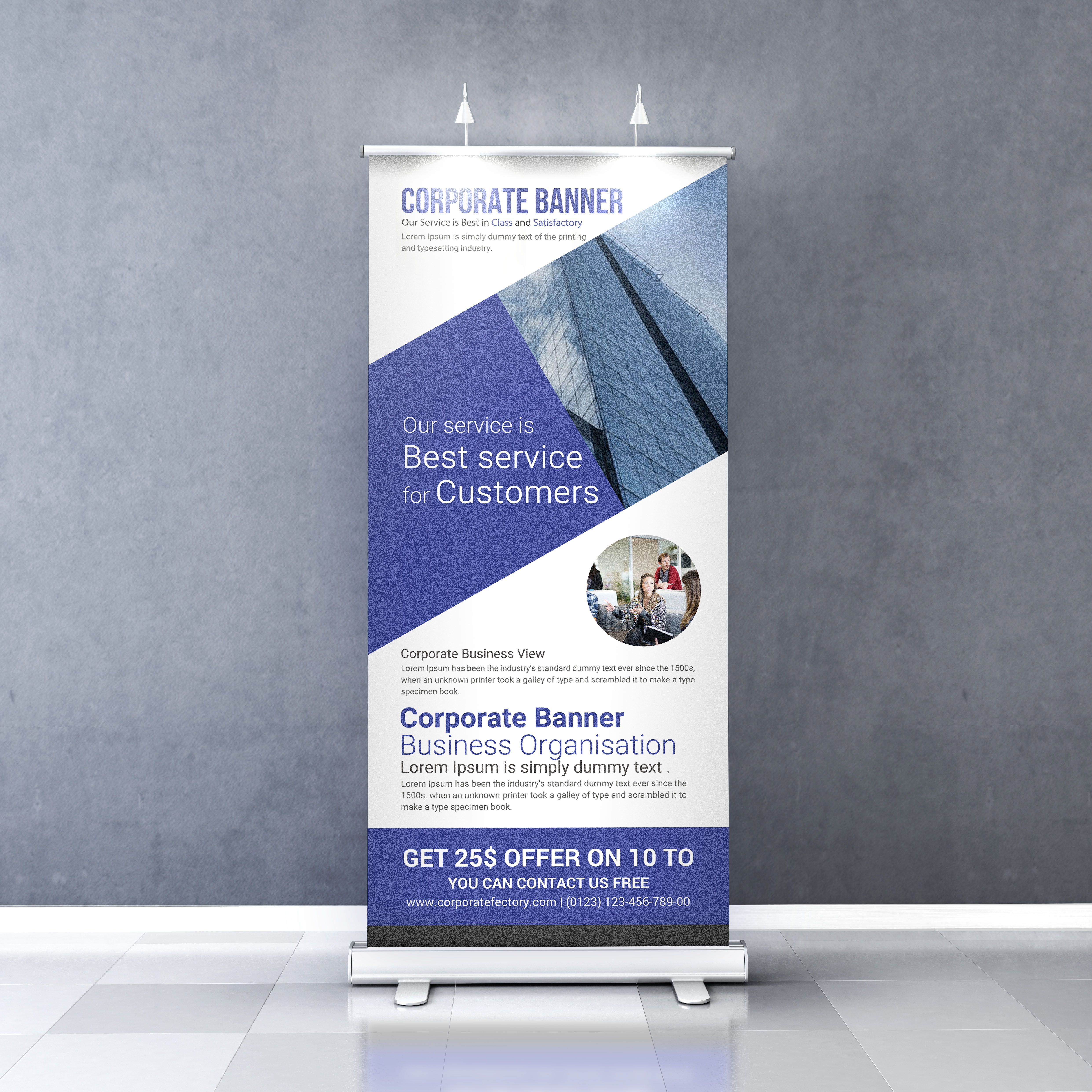 Check Out My Behance Project Free Corporate Roll Up Banner Template Https