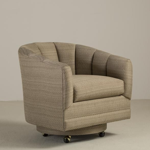 Talisman A Single Upholstered Tub Chair on Castors 1970s -