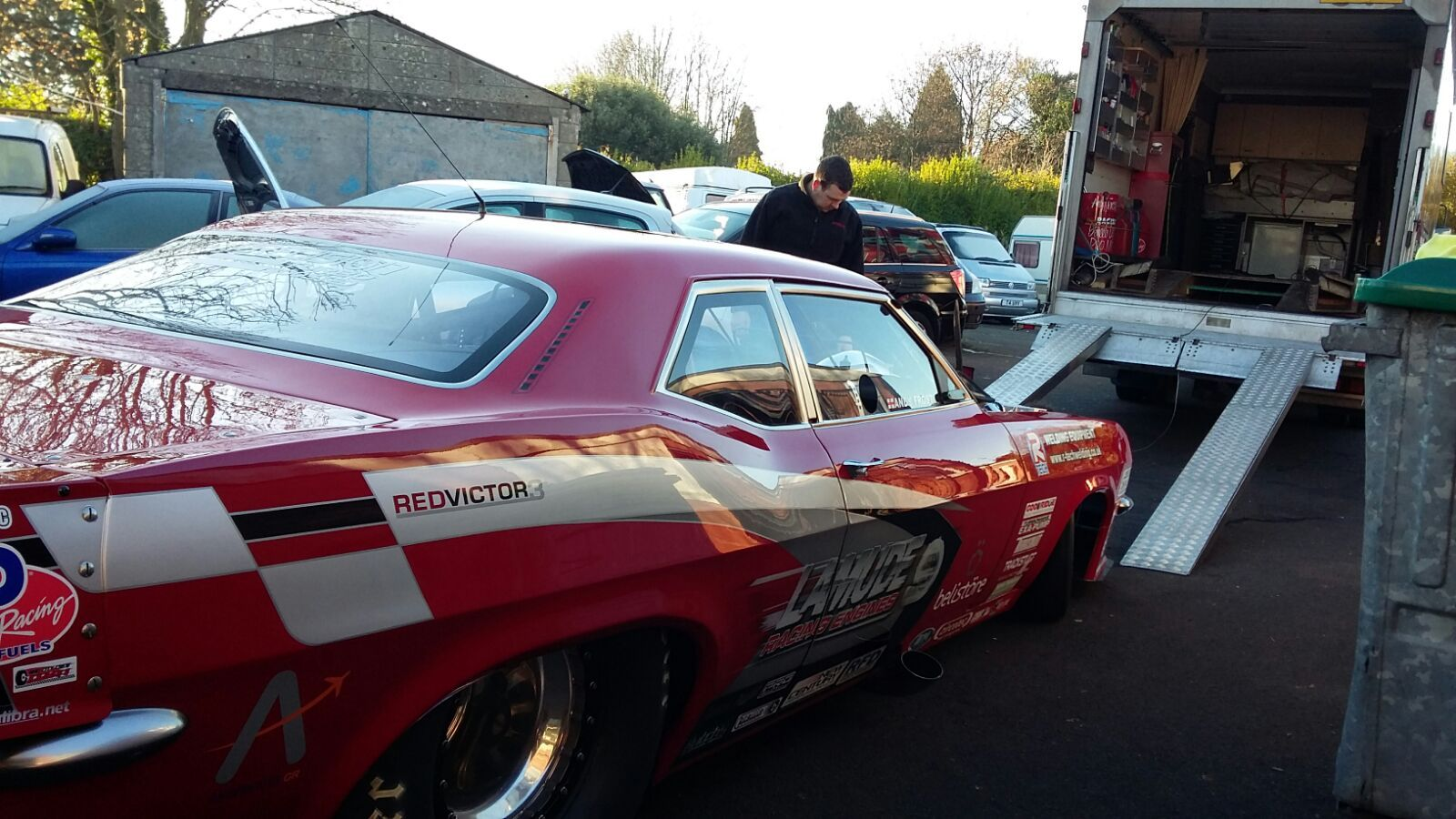 British drag racer andy frost is going international once