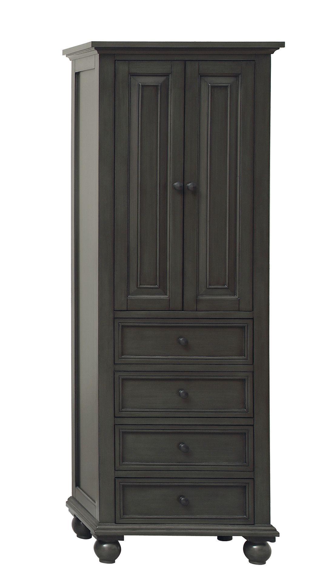 Thompson 24 X 68 Freestanding Bathroom Linen Tower Cabinet