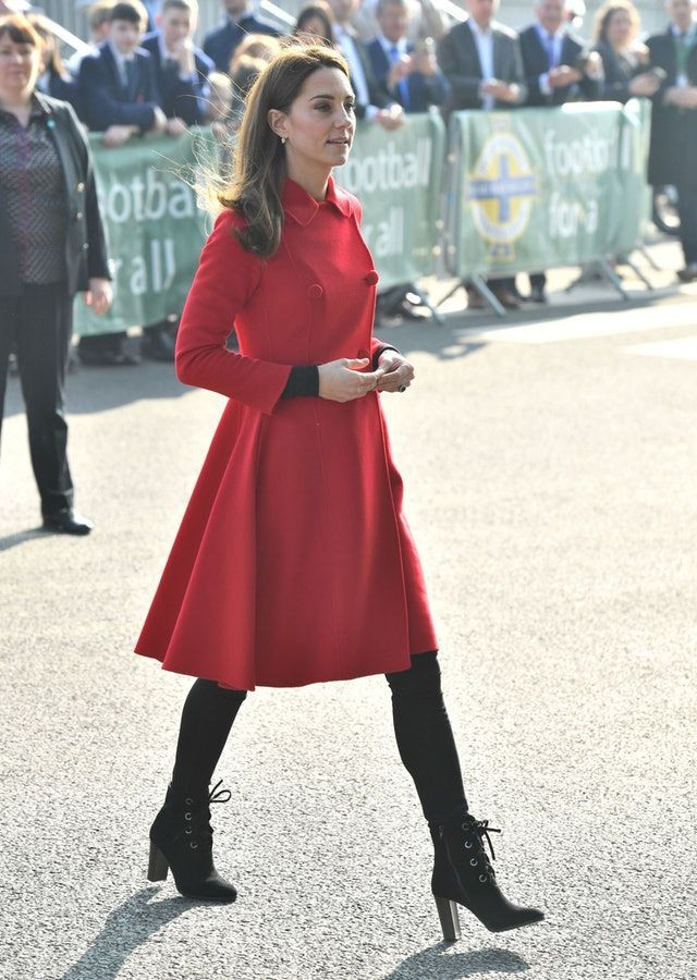 Kate Middleton S Latest Coat Dress Will Brighten Up Your Winter Wardrobe In 2020 Red Coat Dress Kate Middleton Outfits Red Coat Outfit
