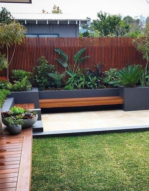 Perhaps another idea for a seating area in the corner of the backyard. Some smal…