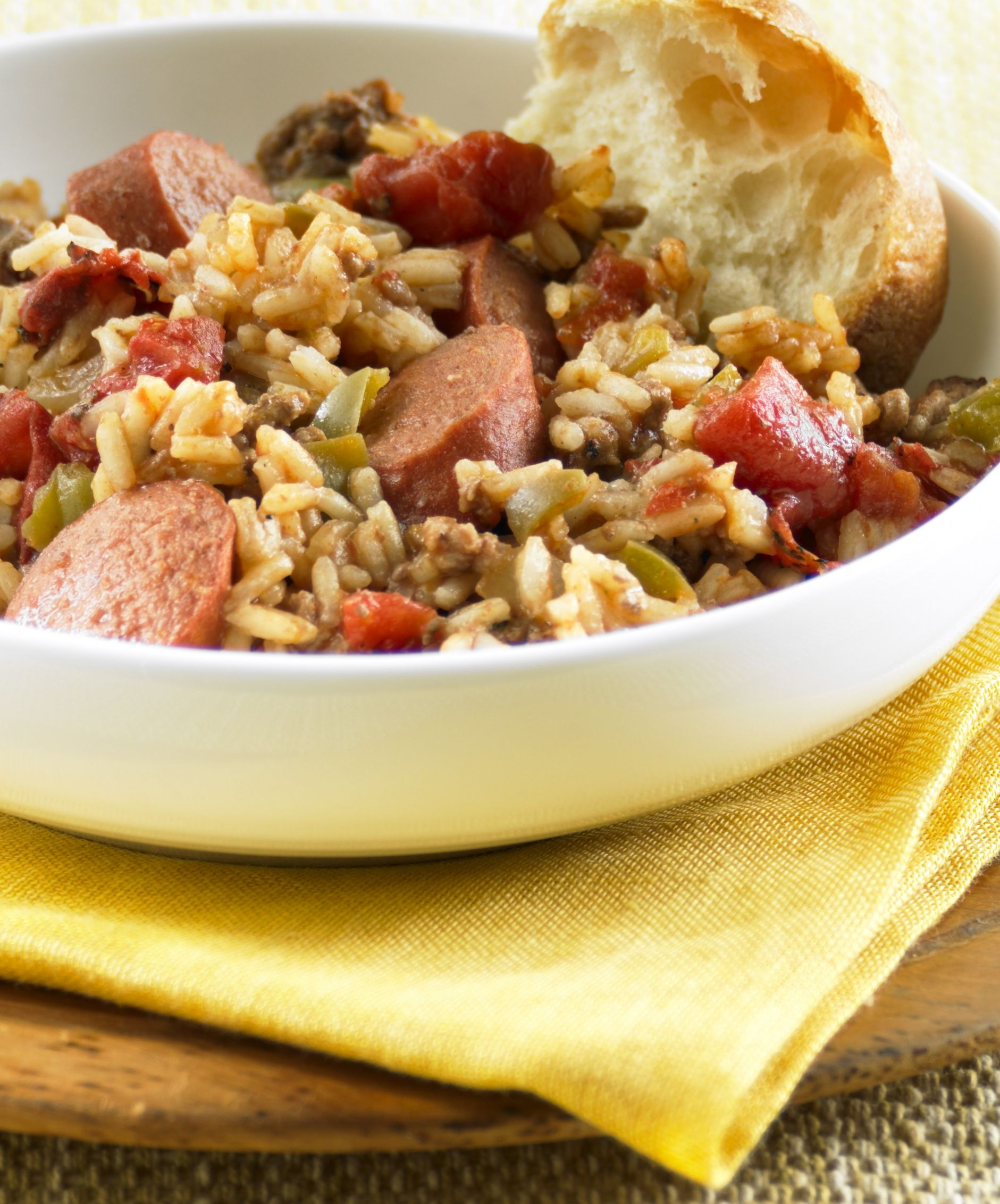 With only 15 minutes of prep, this easy Smoky Beef and Rice Skillet recipe is sure to become a weekday dinner recipe classic.