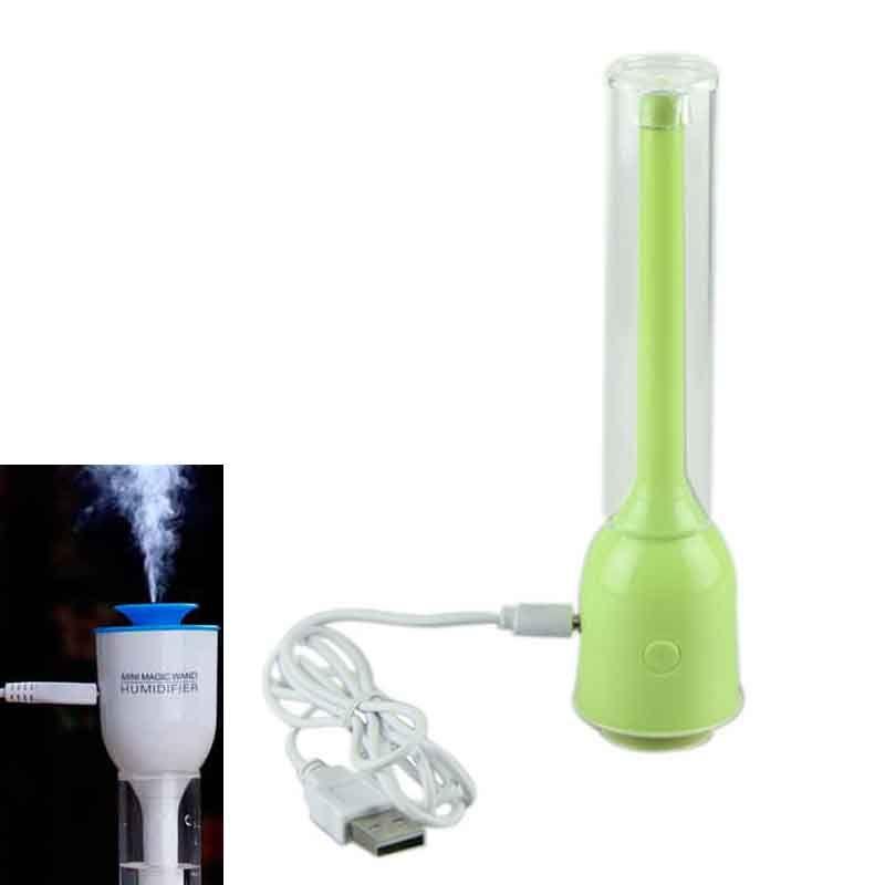 휴대용 분무기 USB 미니 마법의 지팡이 스틱 초음파 가습기 음소거 사무실 홈 자동차 에어 미스트 메이커 아로마 디퓨저 4 색