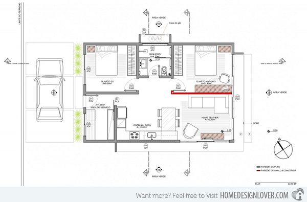 a small simple and sophisticated rectangular box house - Rectangle House Plans