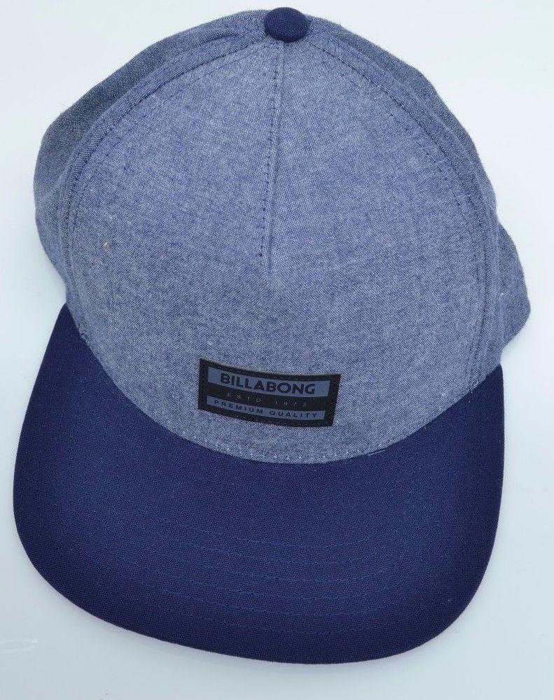 1b1048bbc Billabong Men's Oxford Snapback Hat Blue Navy MSRP $29.95 ...