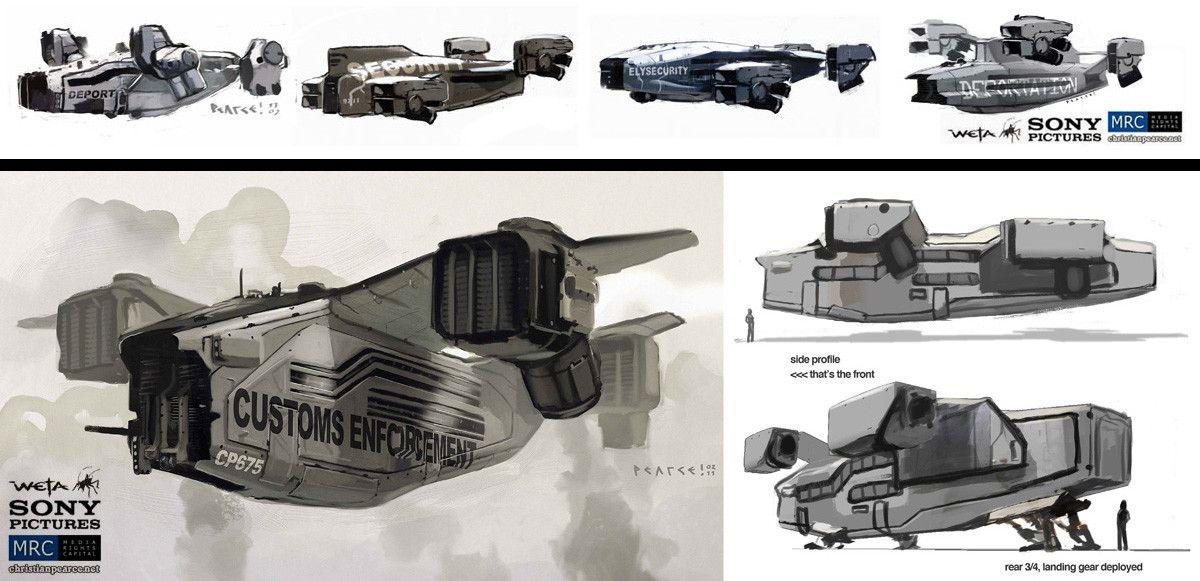 ArtStation Elysium, Christian Pearce Concept ships