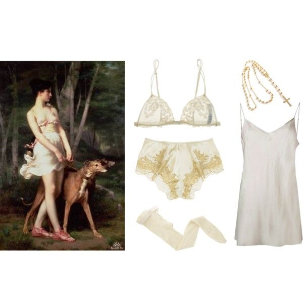 mennybol az angyal by softdream on Polyvore featuring Beautiful People, Carine Gilson, La Perla and Fogal