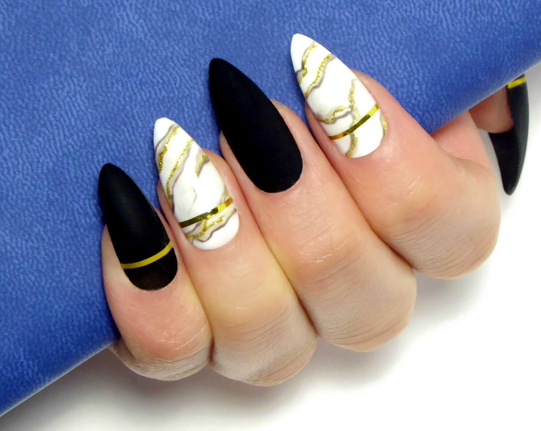 Marble Luxury Gel Nails / Fake nails, press on nails, false nails ...