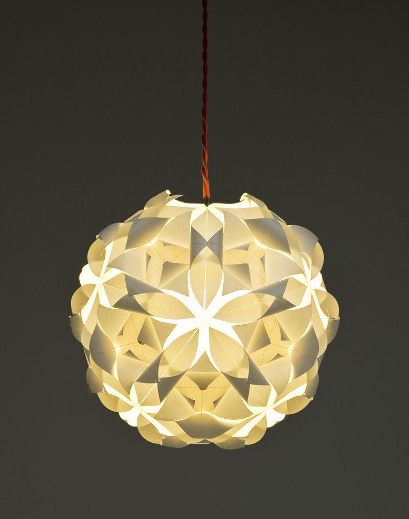 Each cut in the pattern will allow light to come through and reflect patterns onto the wall if it was dark. & Tesselight Paper Light Pendants   Pinterest   Pendants Lights and Walls