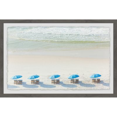 Marmont Hill Beach Day Iii 36 X 24 Framed Wall Art Multi