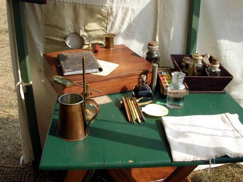 Charmant More Field Equipment Neil Might Have Hauled About The New York Frontier. A  Table In The 18th Century Naturalistu0027s Tent At Mount Vernonu0027s 18th Century  Craft ...