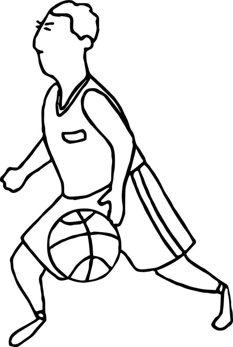 Go Man Playing Basketball Coloring Page Sports Coloring Pages Bear Coloring Pages Cool Coloring Pages