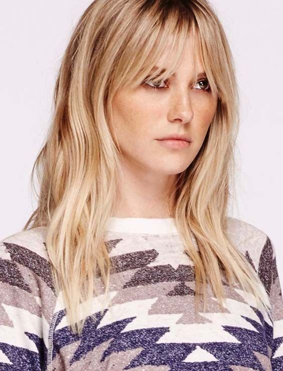 28 Popular Medium To Long Hairstyles With Bangs For 2018