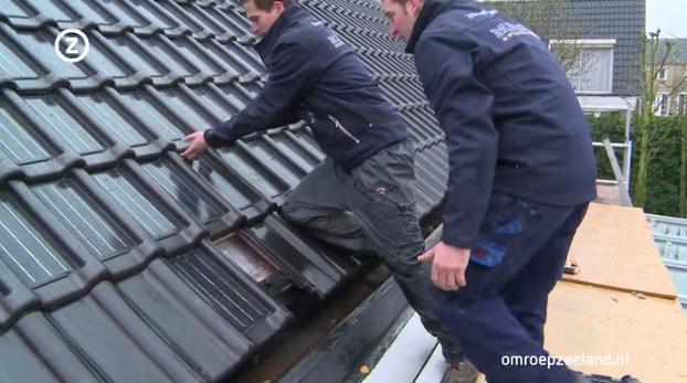 Dakpannen Met Zonnepanelen : De zonnedakpan is een dakpan en een zonnepaneel in één