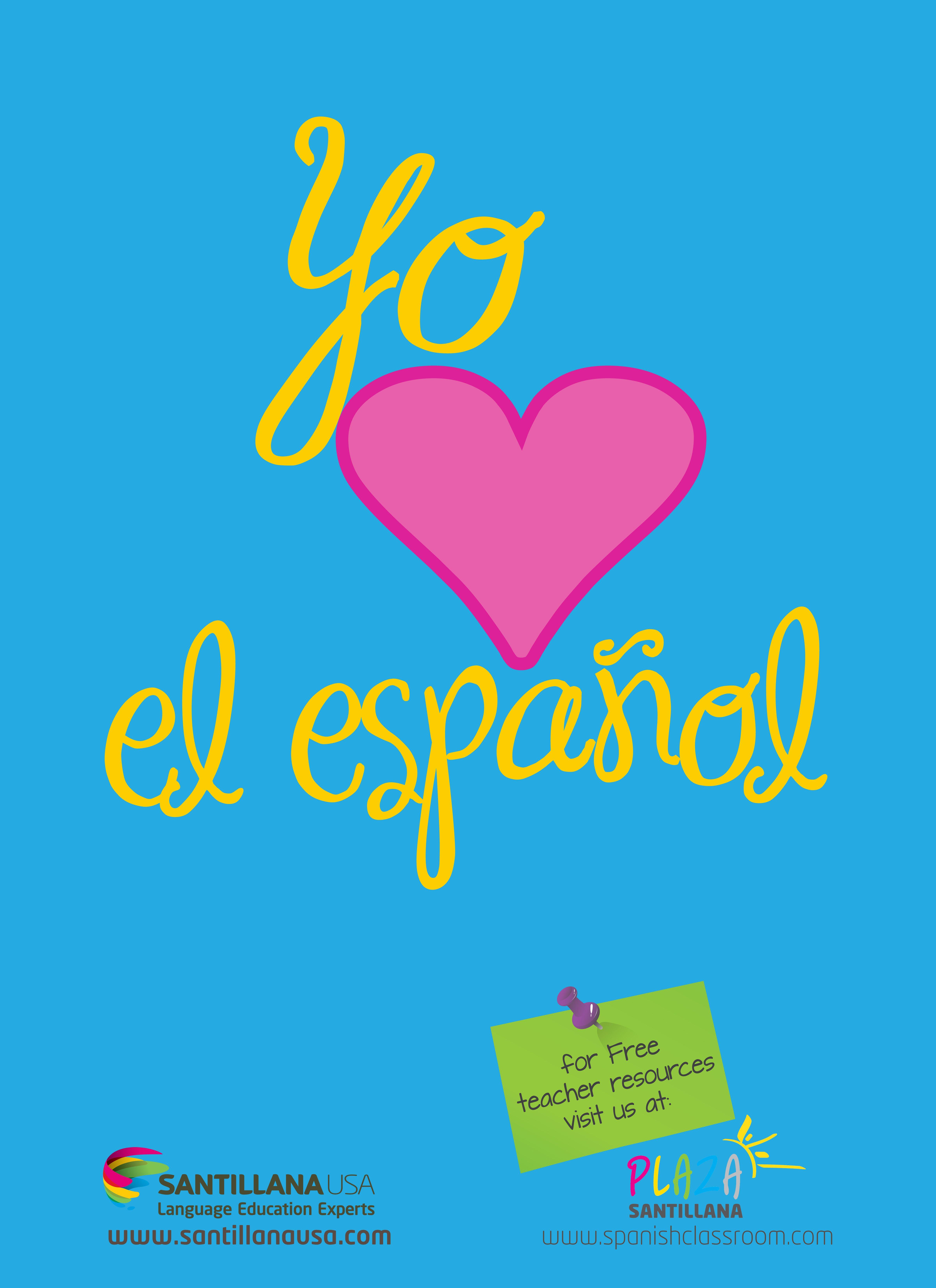 Plaza Santillana | Spanish classroom, Teaching spanish, Middle school  resources