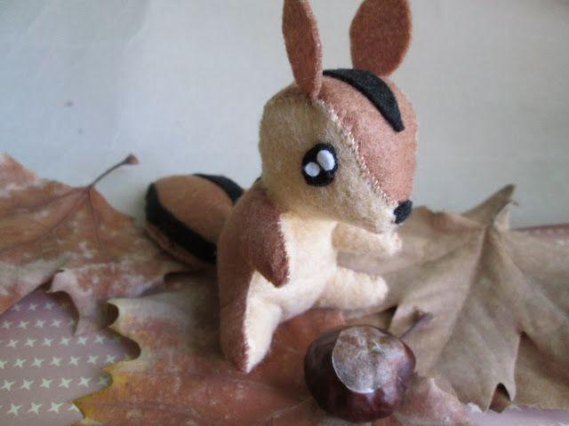 Pin De Cindy Ayala En Mis Muñequitos: DIY: Felt Squirrel / Ardilla De Fieltro