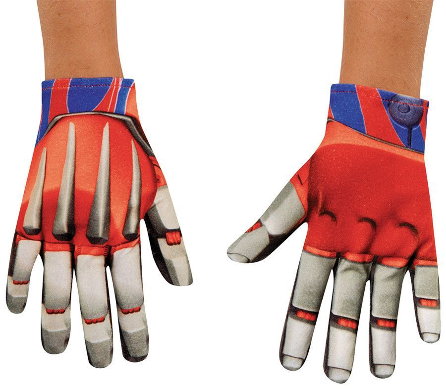 Optimus Prime Gloves Transformers Fancy Dress Halloween Adult Costume Accessory