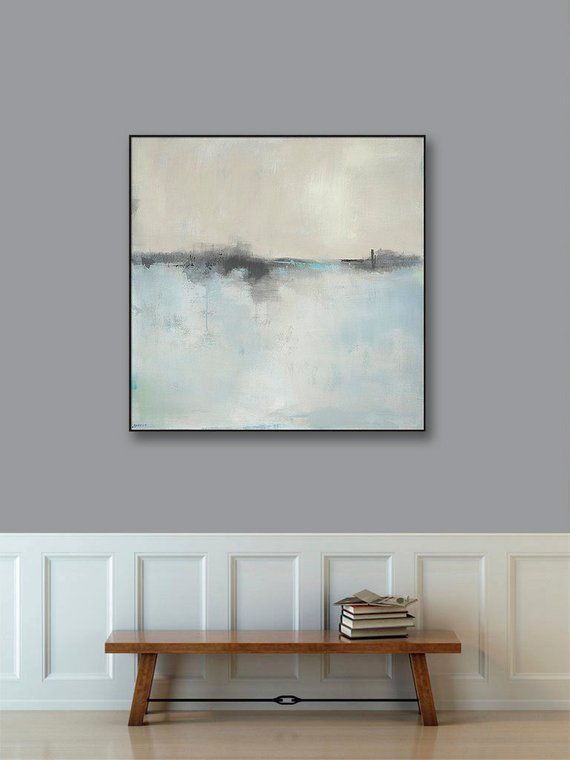 Large Framed Wall Art Abstract Landscape Art Canvas Print 36x36 40x40 48x48 Best Selling Large Framed Wall Art Framed Abstract Art Abstract Art Landscape