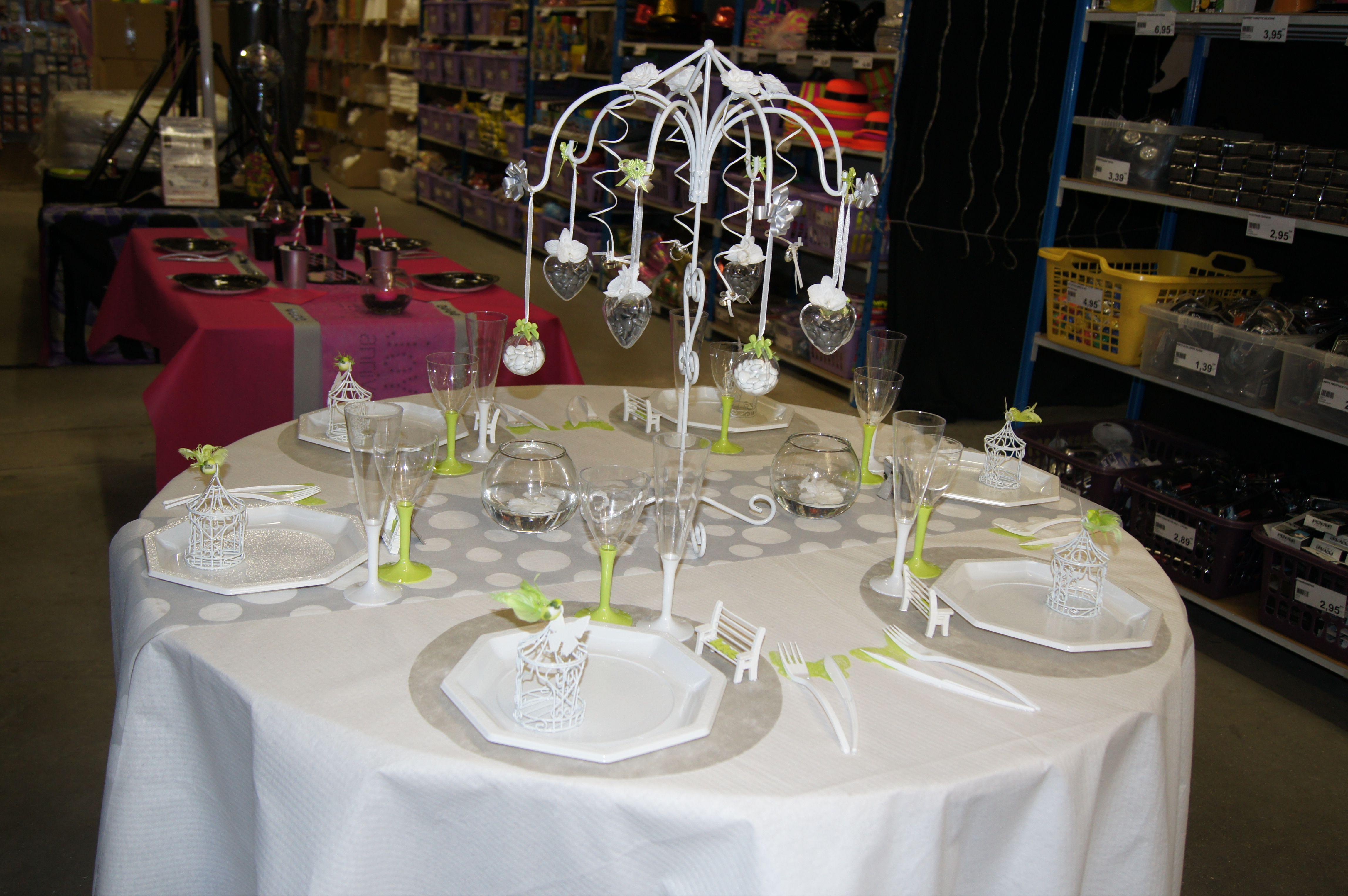 D Coration De Table Mariage Gris Rose Blanc Www Le Geant De