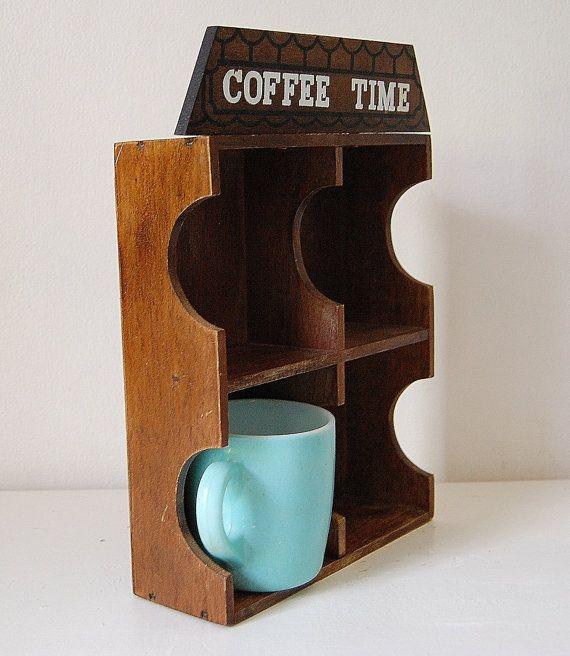 Mug Shelf Kitchen: Coffee Mug Shelf Kitchen Decor House Shadow Box